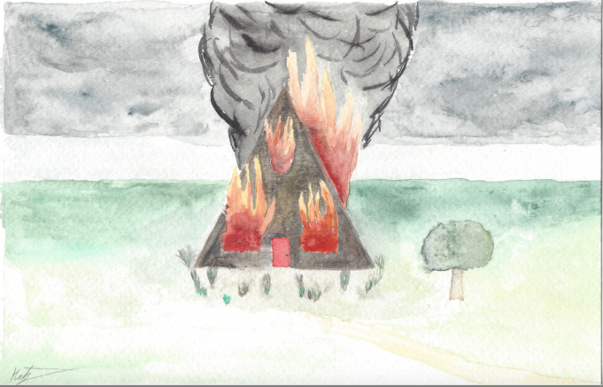 """Burning Memories"" illustration by Amelia Katz"
